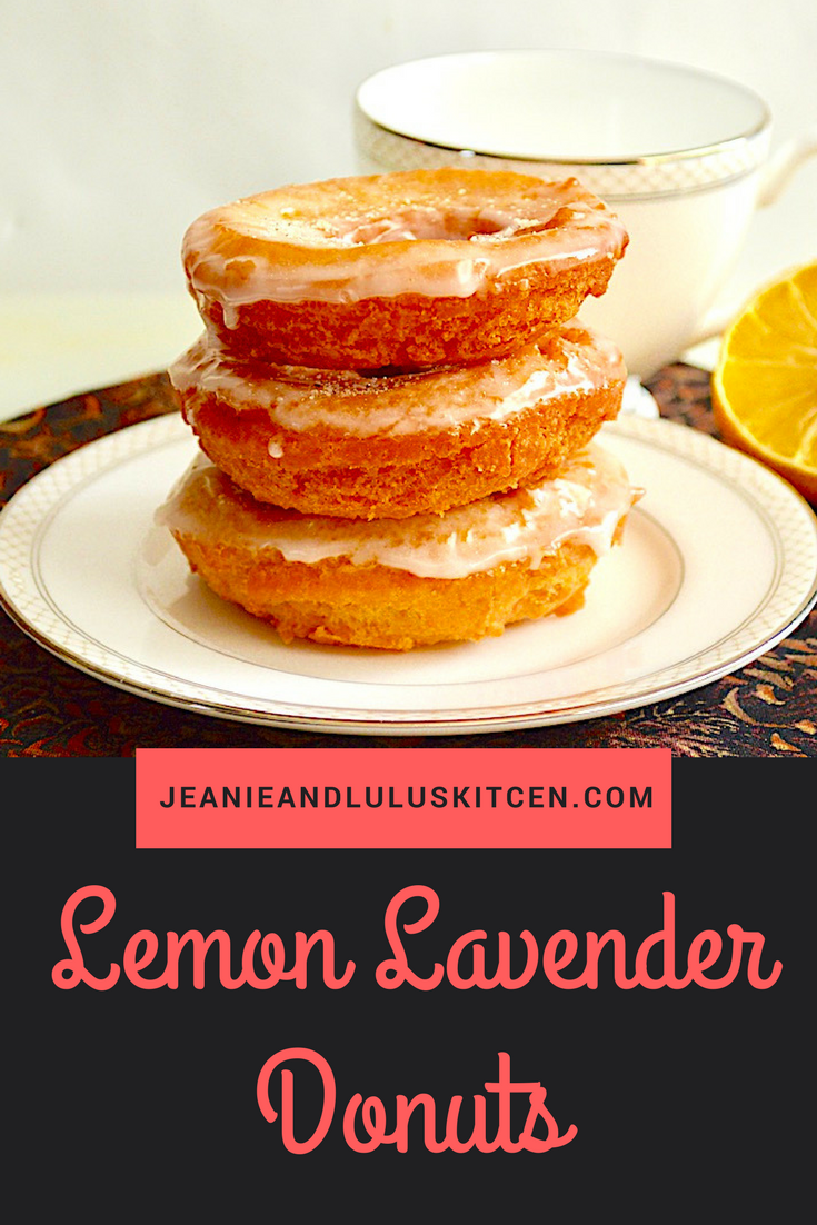 Lemon Lavender Donuts