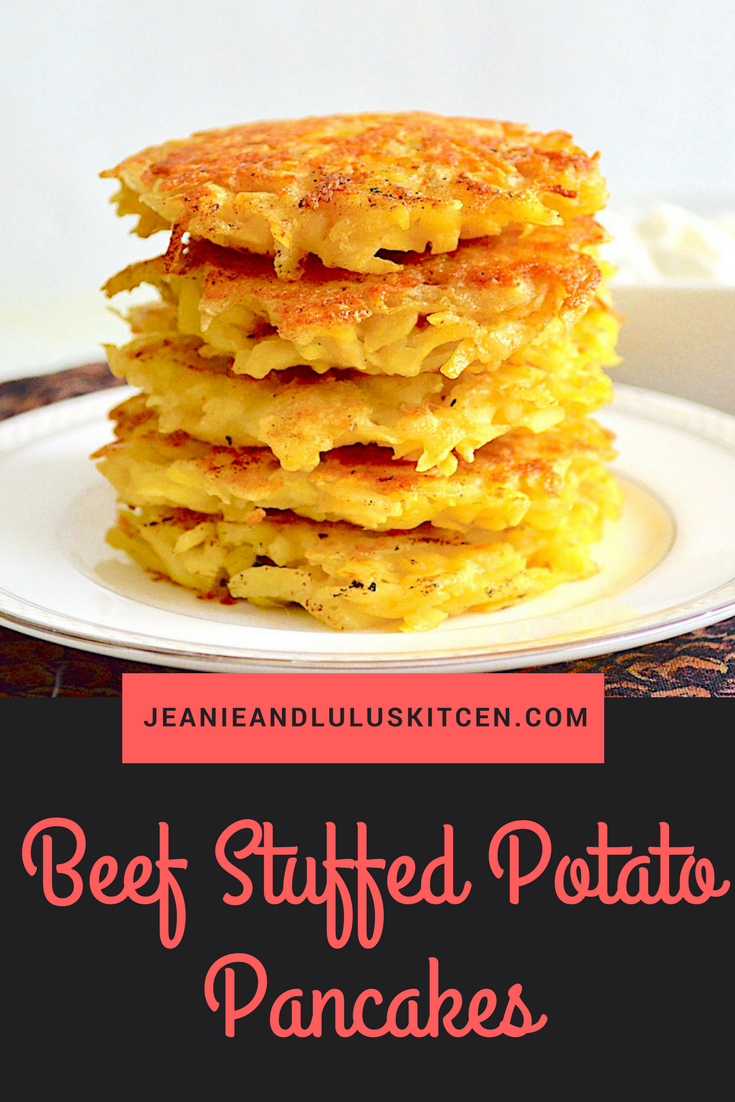 Beef Stuffed Potato Pancakes
