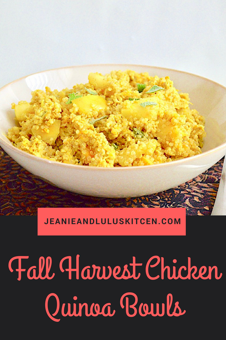 Fall Harvest Chicken Quinoa Bowls