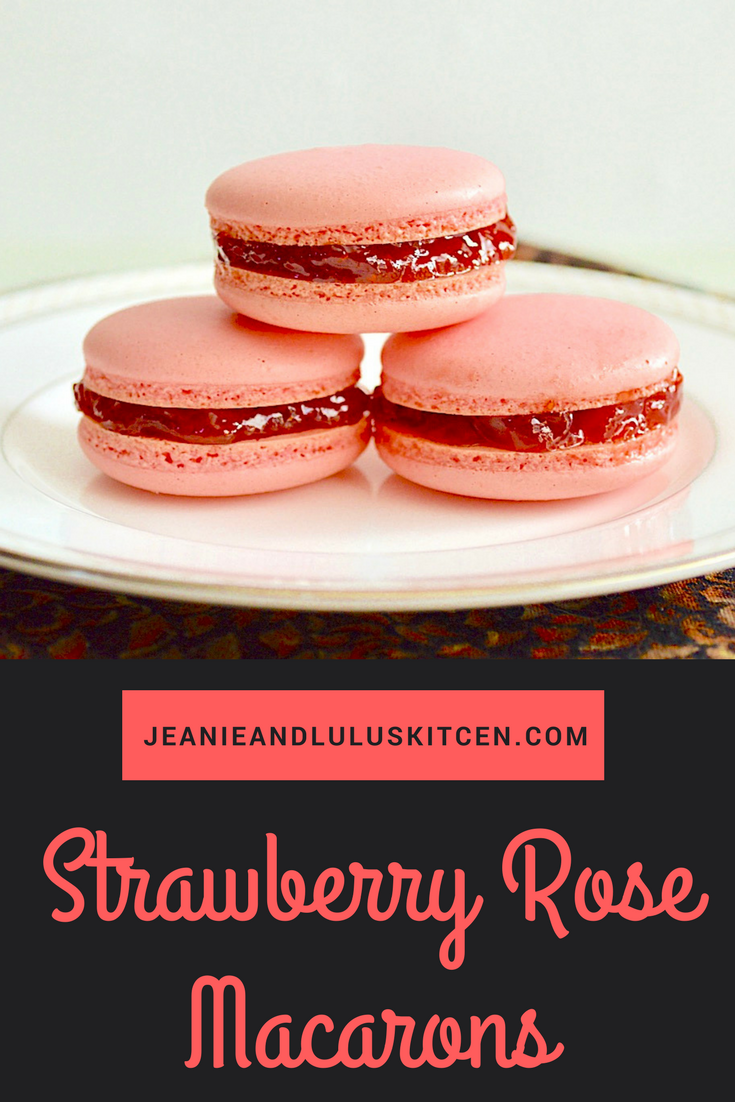Strawberry Rose Macarons