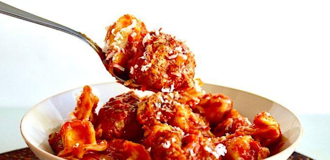 Sausage Sage Meatballs with Tortellini