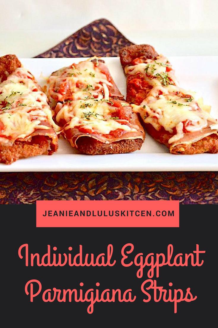 Individual Eggplant Parmigiana Strips