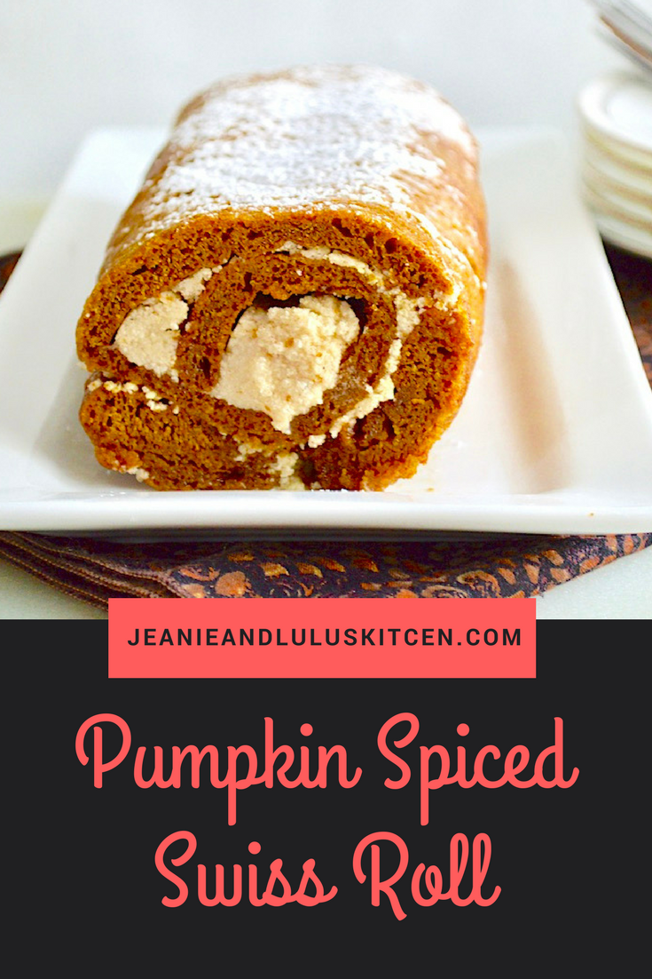 Pumpkin Spiced Swiss Roll