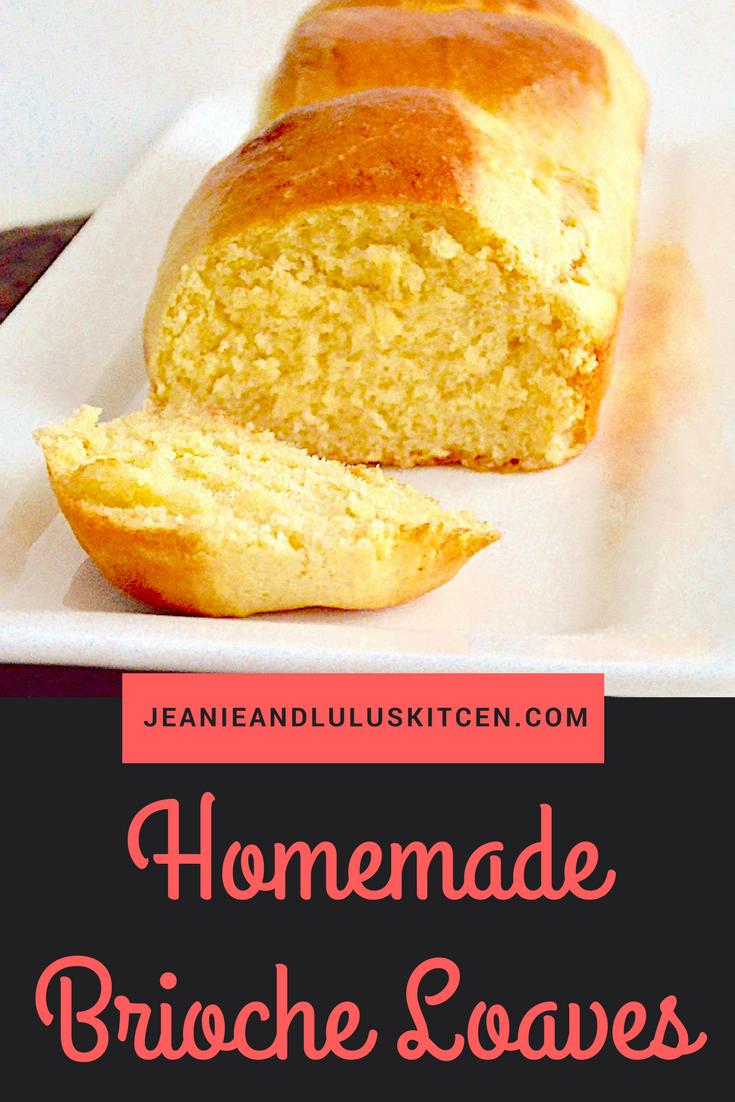 Homemade Brioche Loaves