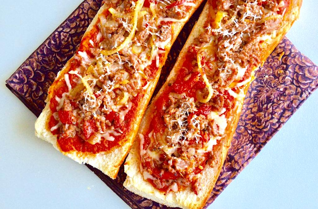 Loaded French Bread Pizzas