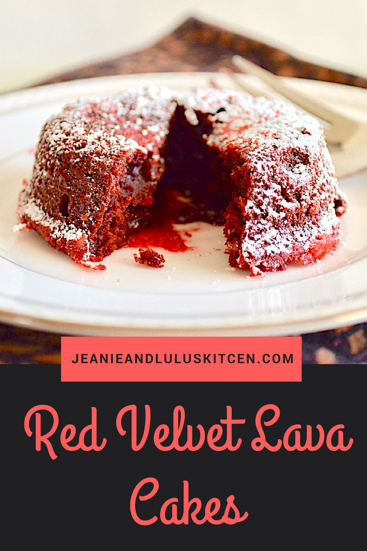 Red Velvet Lava Cakes