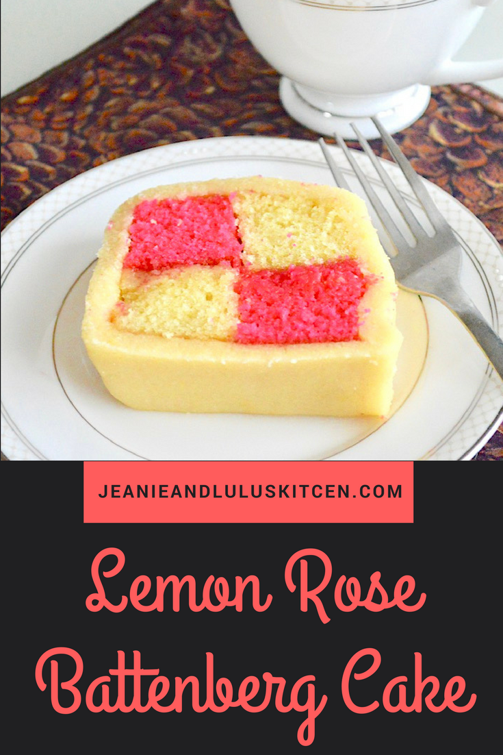 Lemon Rose Battenberg Cake