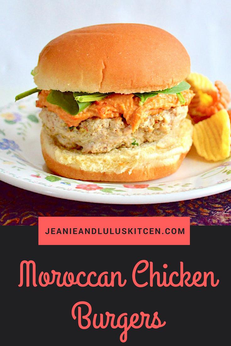 Moroccan Chicken Burgers
