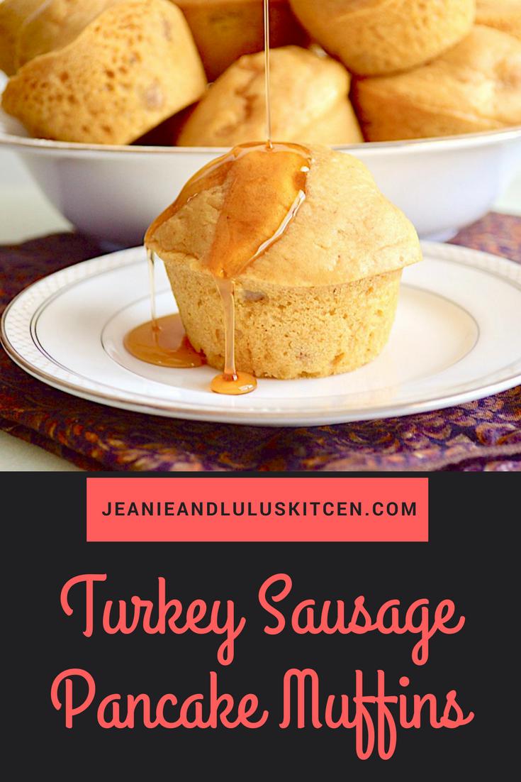 Turkey Sausage Pancake Muffins
