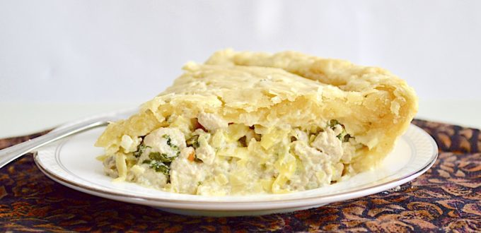 Spinach Artichoke Chicken Pie