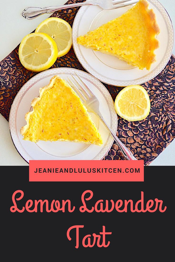 Lemon Lavender Tart