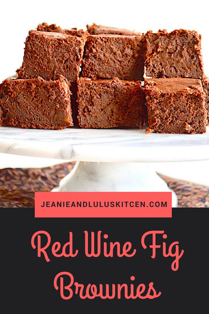 Red Wine Fig Chocolate Brownies