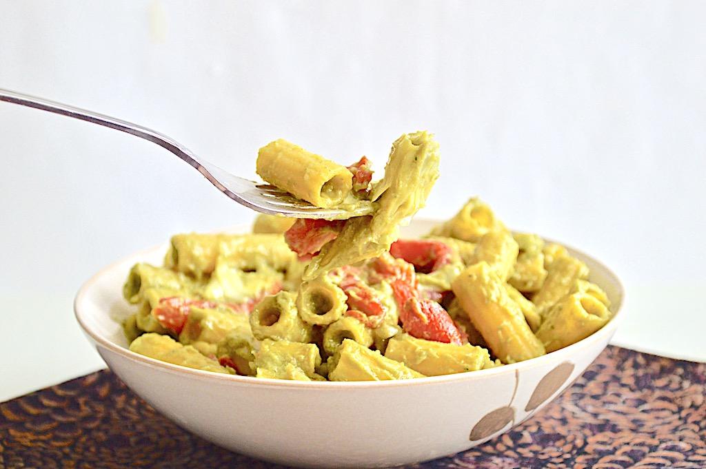 Avocado Veggie Pasta