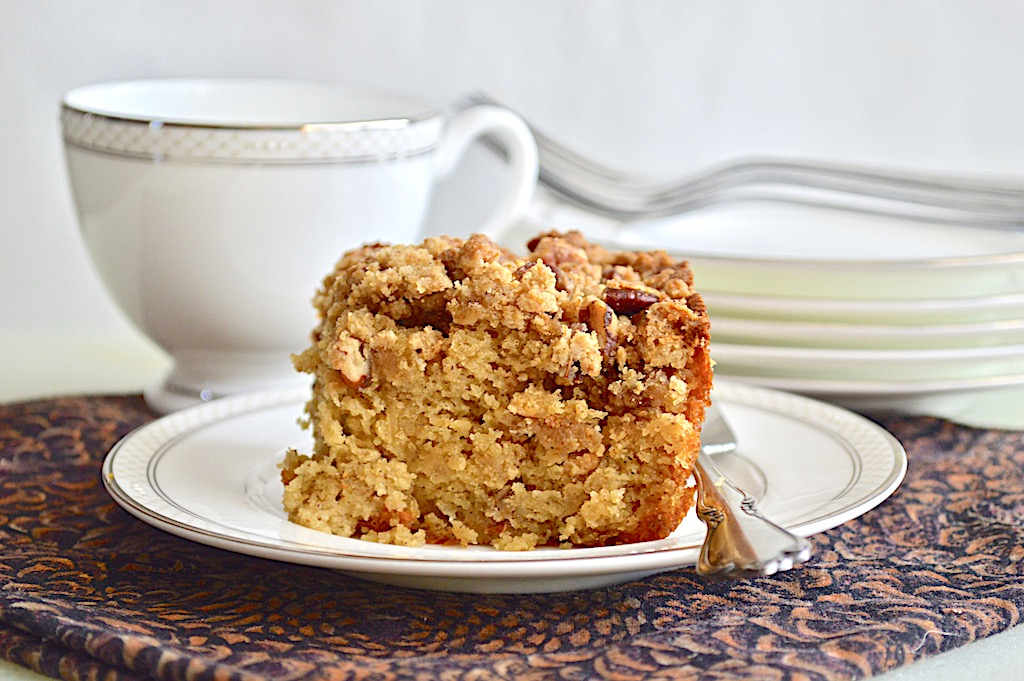 Spiced Rose Crumb Cake