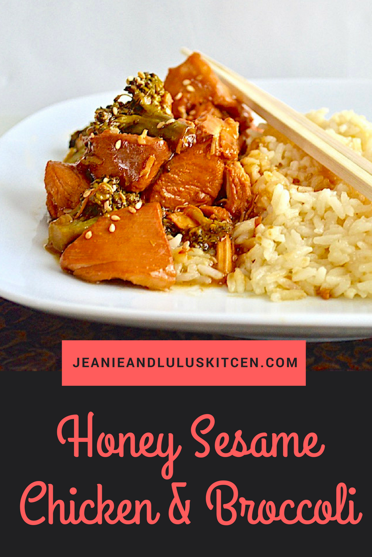 Honey Sesame Chicken and Broccoli