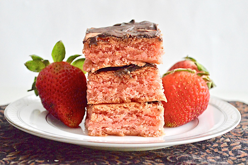 Strawberry Chocolate Mascarpone Brownies