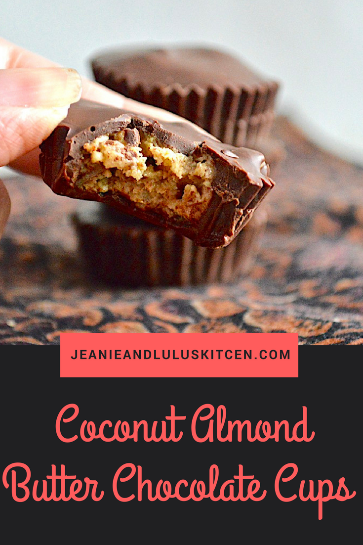 Coconut Almond Butter Chocolate Cups