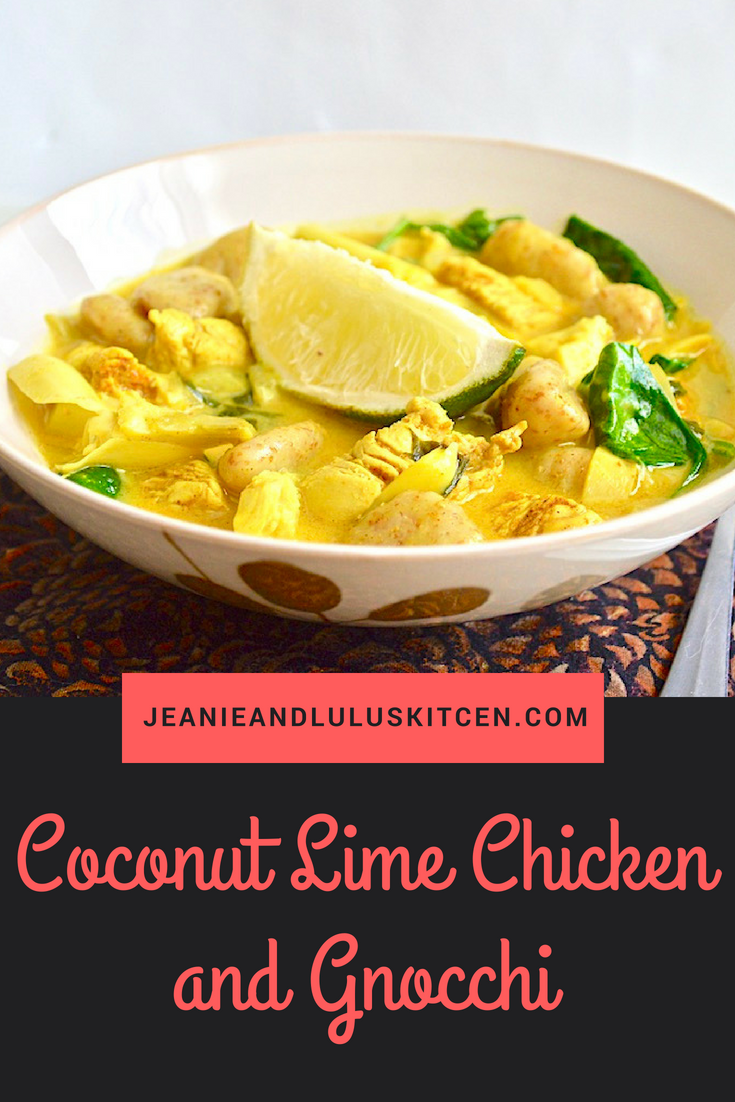 Coconut Lime Chicken and Gnocchi