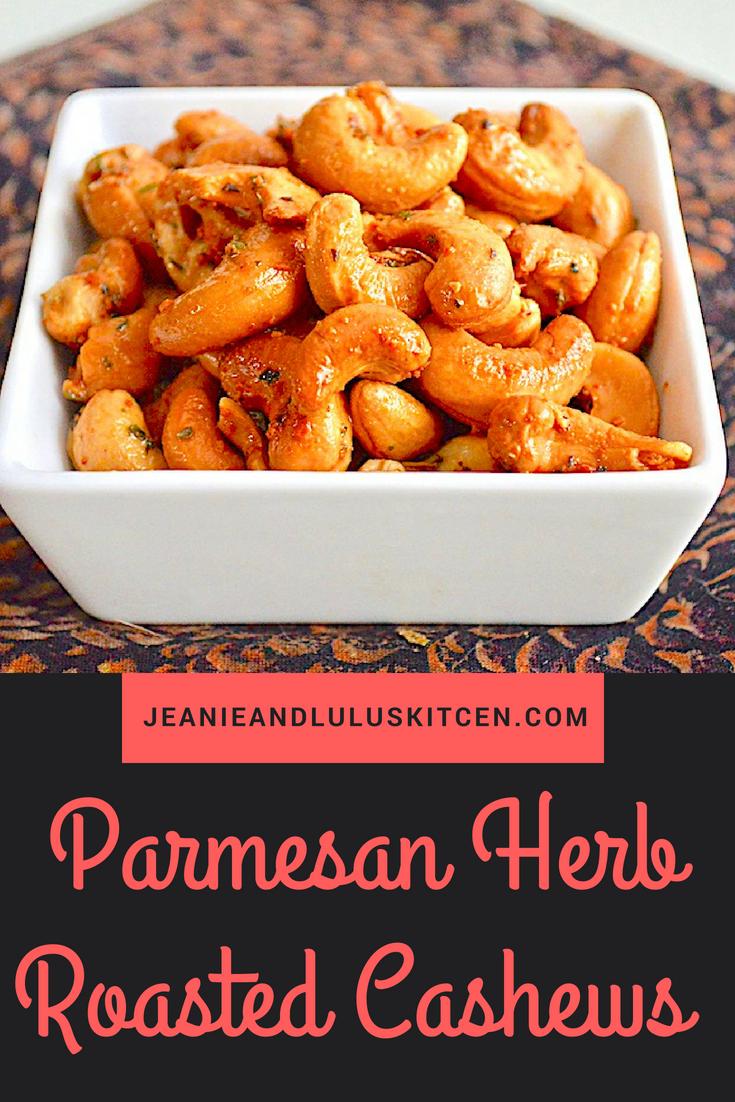 Parmesan Herb Roasted Cashews