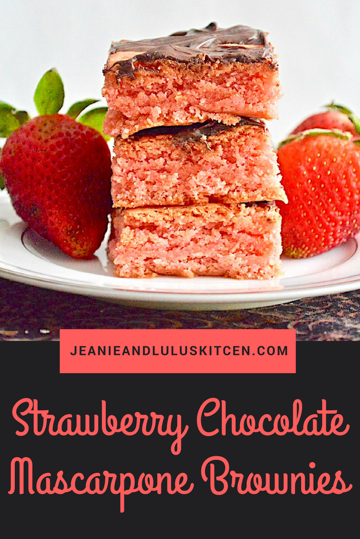 Strawberry Chocolate Mascarpone Brownies