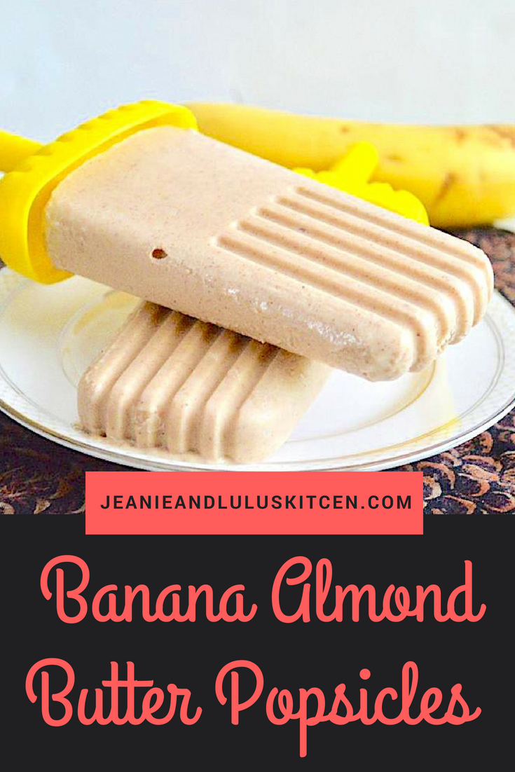 Banana Almond Butter Popsicles