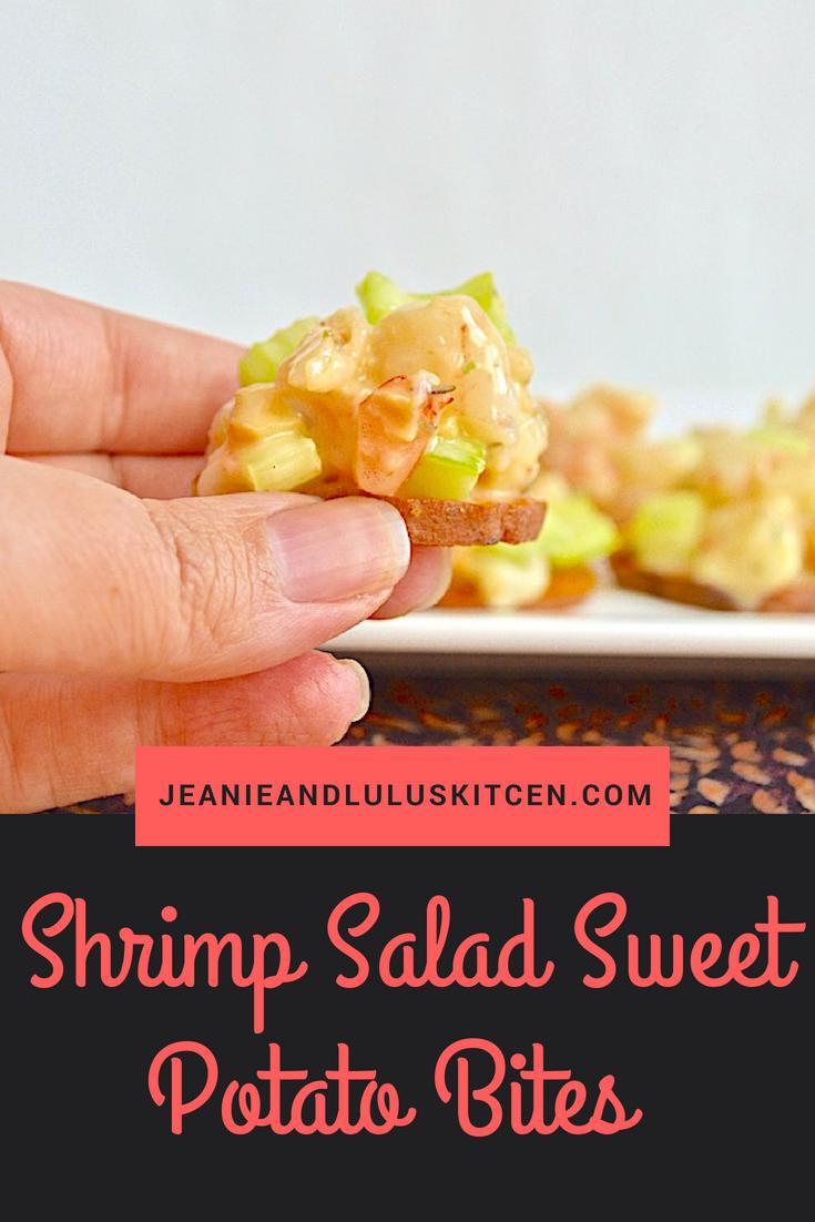Shrimp Salad Sweet Potato Bites