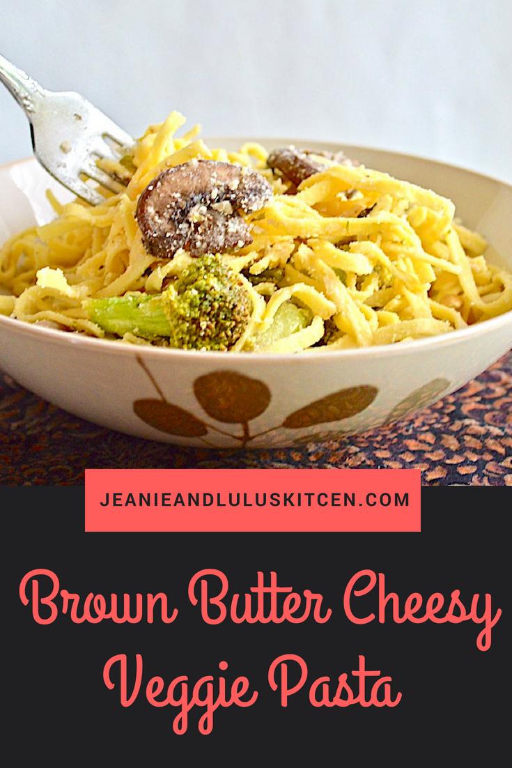 Brown Butter Goat Cheese Veggie Pasta