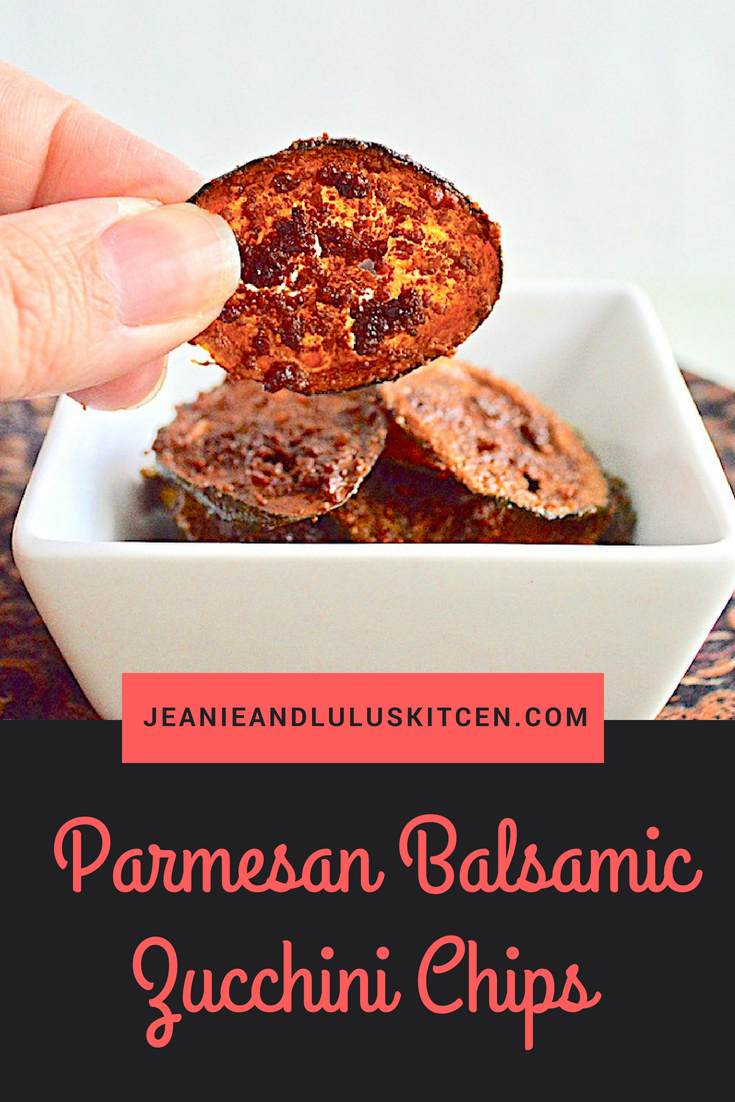 Parmesan Balsamic Zucchini Chips