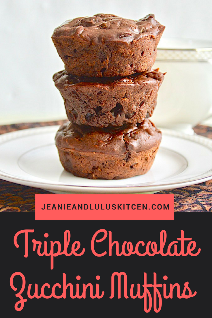 Triple Chocolate Zucchini Muffins