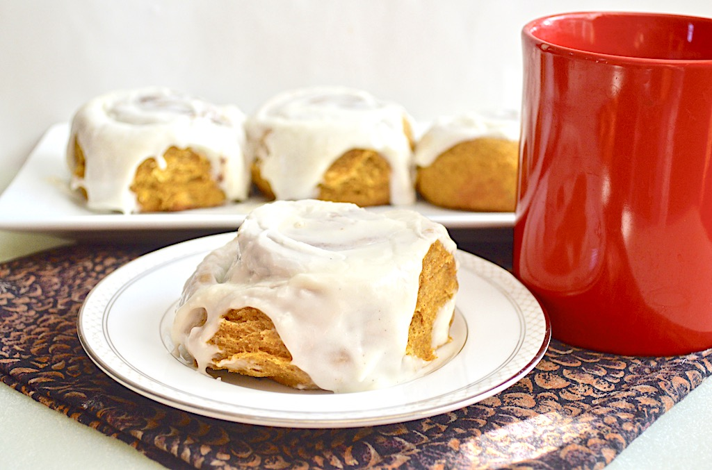 Pumpkin Spiced Cinnamon Rolls