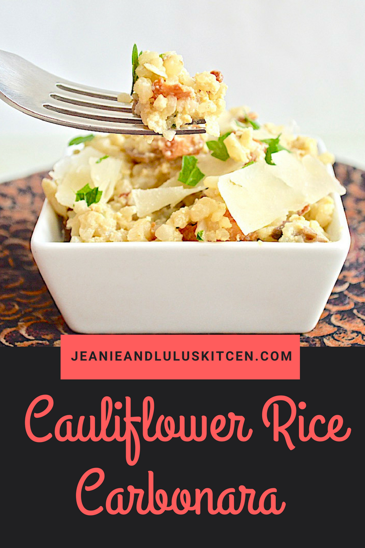 Cauliflower Rice Carbonara