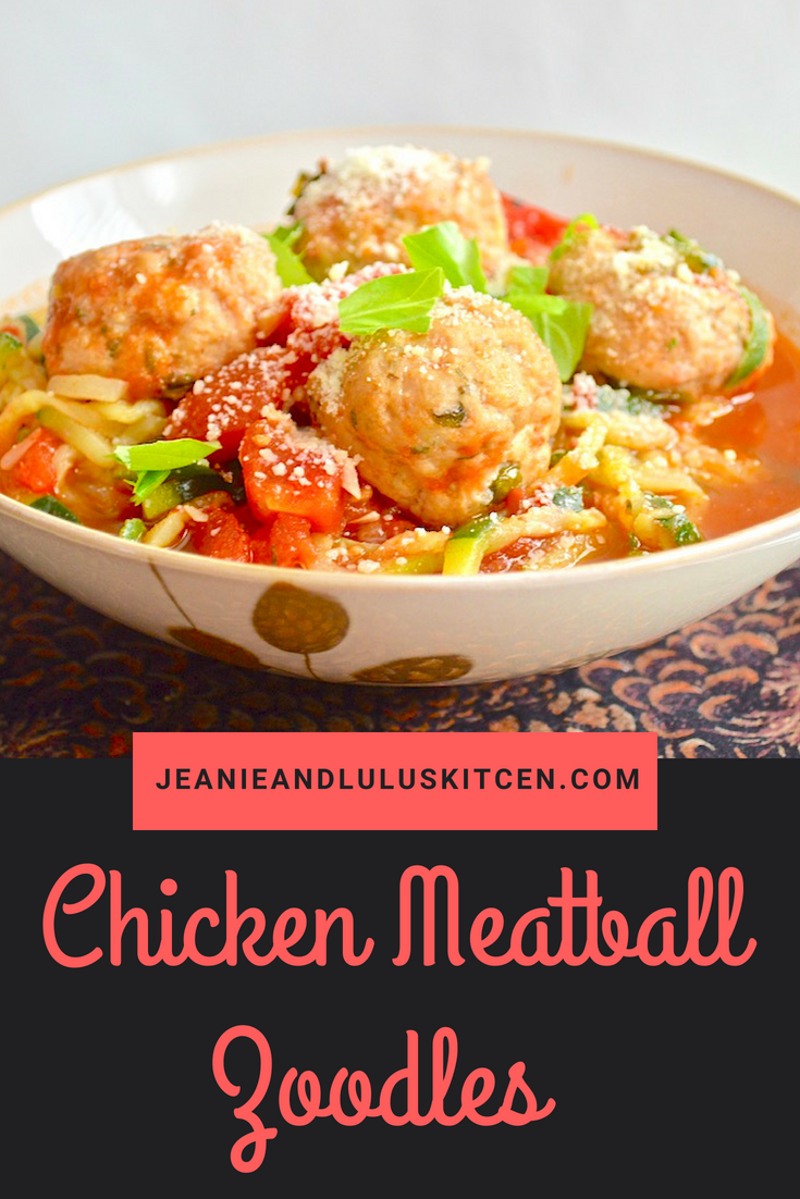 Chicken Meatball Zoodles
