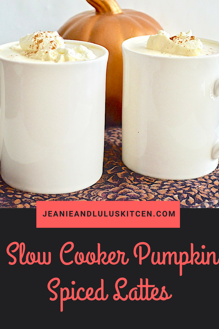 Slow Cooker Pumpkin Spiced Lattes