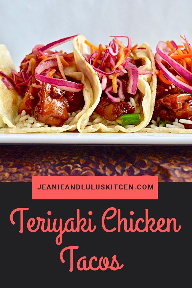 Teriyaki Chicken Tacos