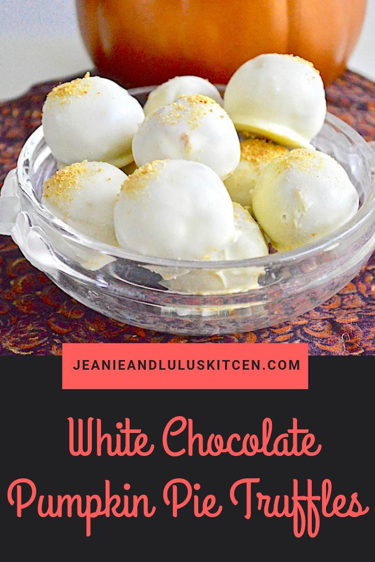 White Chocolate Pumpkin Pie Truffles