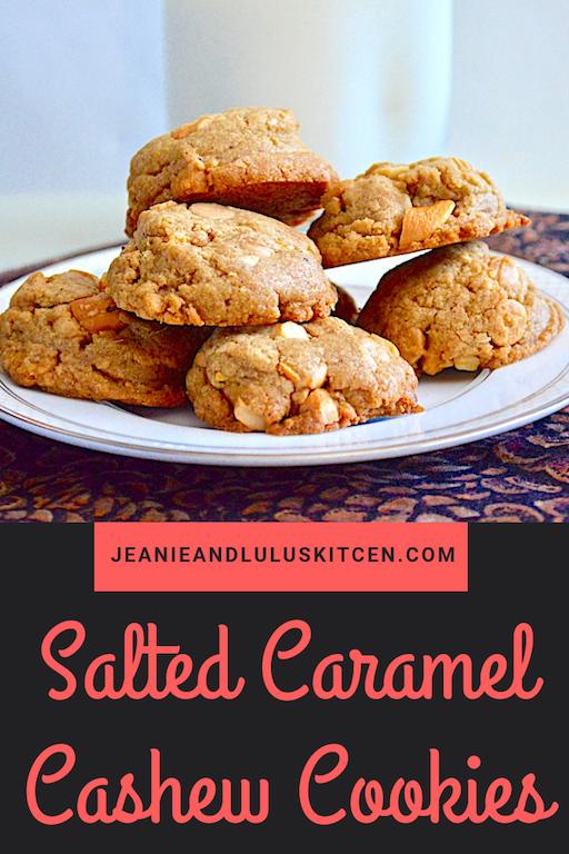 Salted Caramel Cashews Cookies
