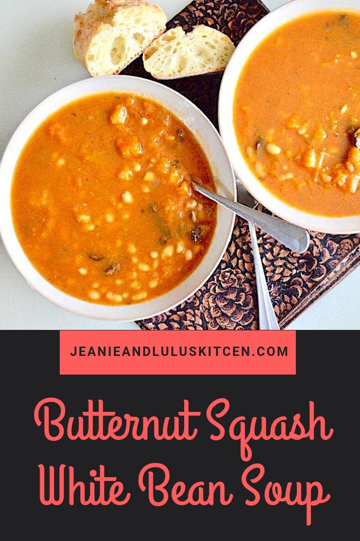 Butternut Squash White Bean Soup