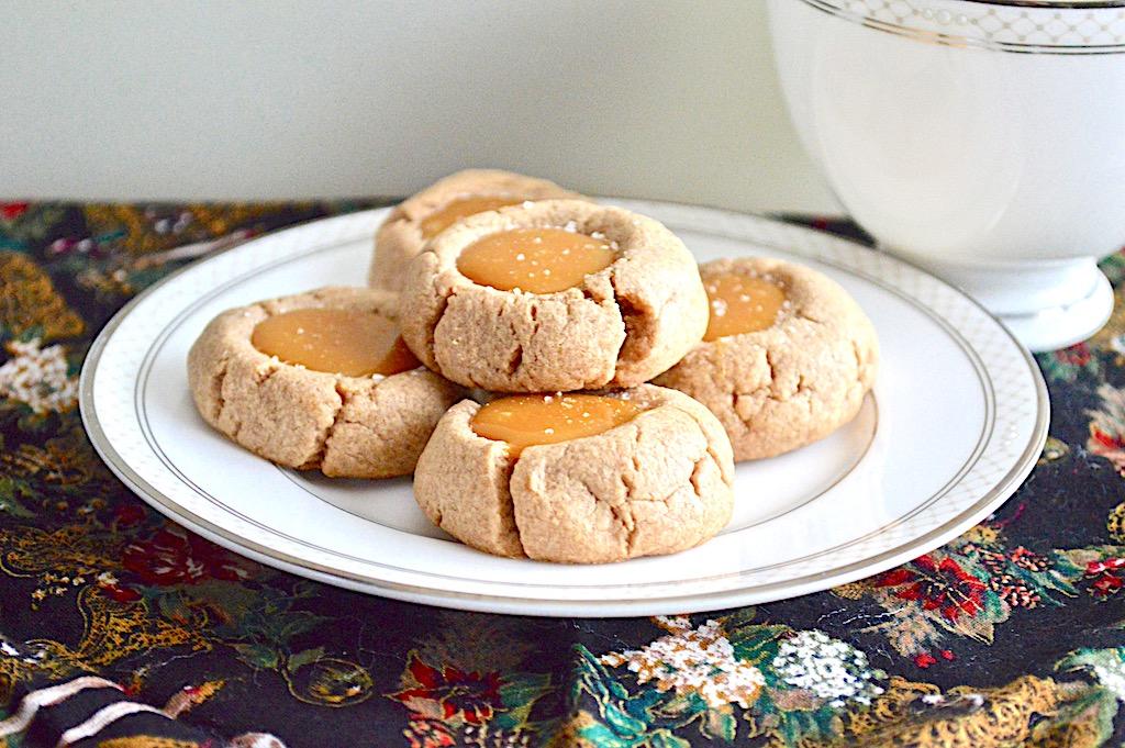 Salted Caramel Thumbprint Cookies