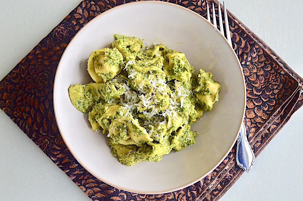 Winter Kale Pesto with Tortellini