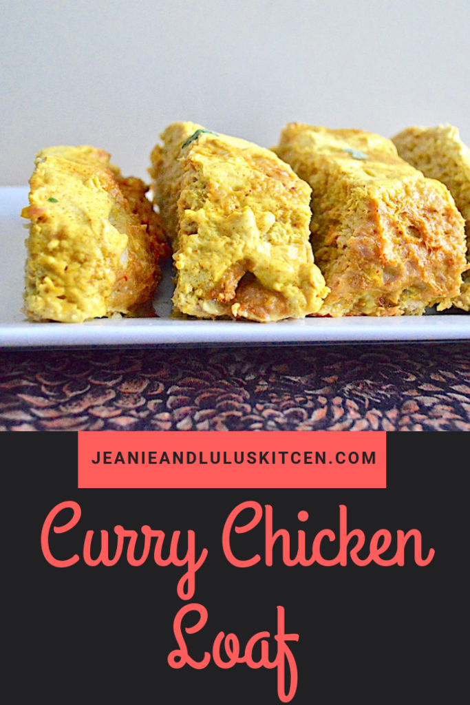A flavorful and hearty curry chicken loaf that is so simple to make for a warming meal! #chicken #dinner #currychickenloaf #comfortfood #jeanieandluluskitchen