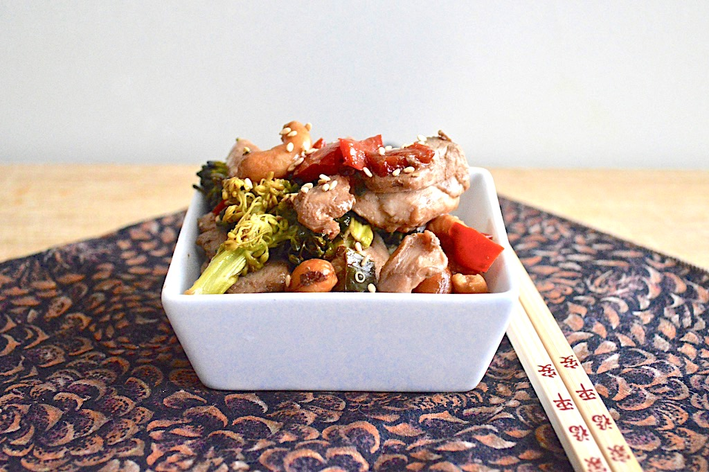 Sheet Pan Cashew Chicken