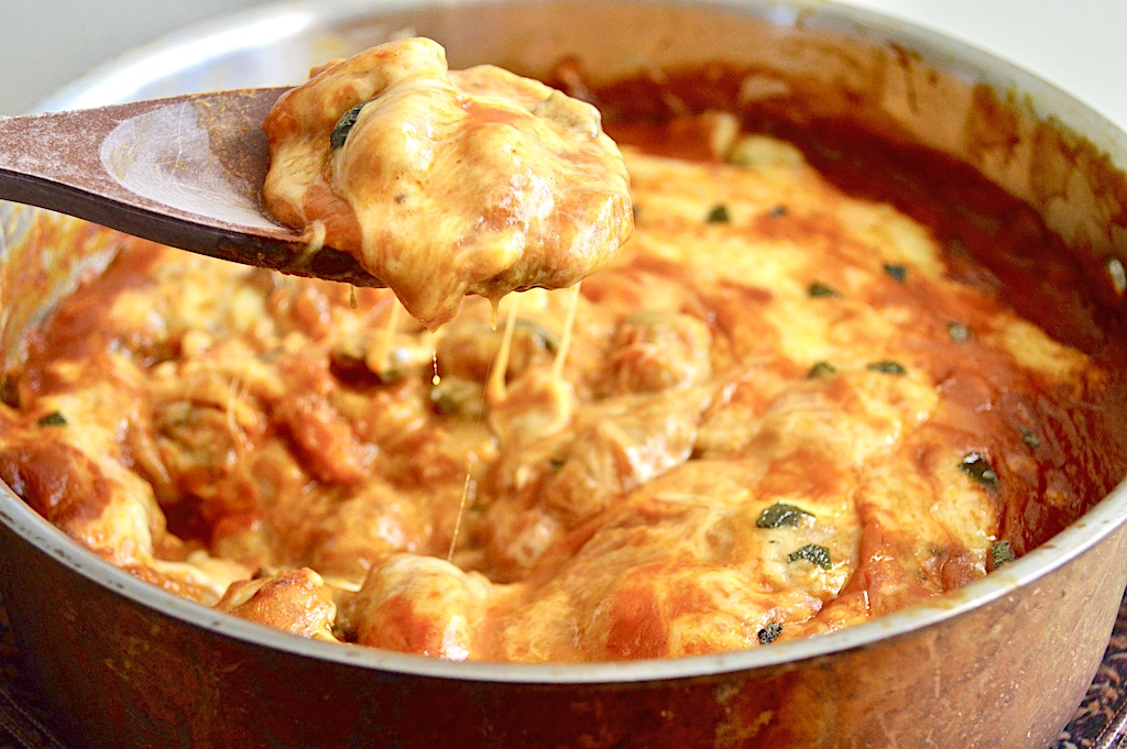 One Pan Cheesy Baked Gnocchi