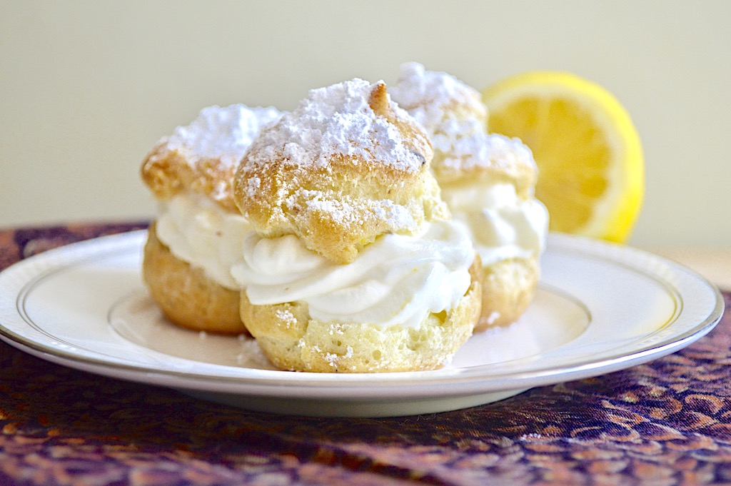 Lemon Lavender Cream Puffs