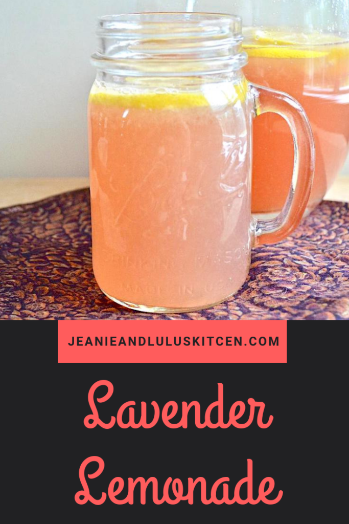 Lemonade is perfect for summer! This lavender lemonade is so refreshing with gorgeous flavor and color to make any summer night more delicious. #lemons #lemonade #lavenderlemonade #drinks #lavender #jeanieandluluskitchen