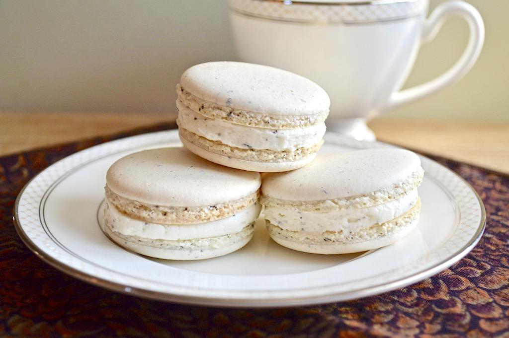 Earl Grey Vanilla Macarons