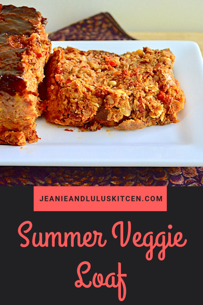 This summer veggie loaf is such a fantastic way to use all of that gorgeous, seasonal produce in one super hearty and flavorful vegetarian meal! #vegetarian #dinner #vegetables #summerveggieloaf #jeanieandluluskitchen