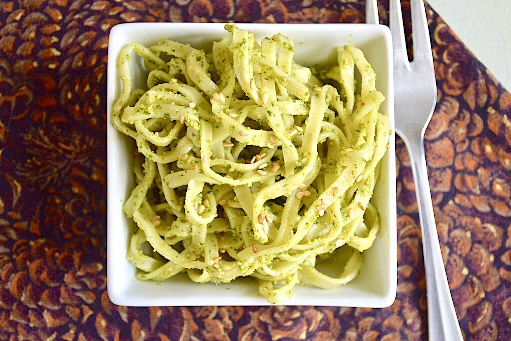 Cold Asian Pesto Noodles