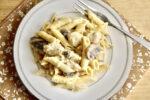 Roasted Garlic Chicken and Mushroom Alfredo