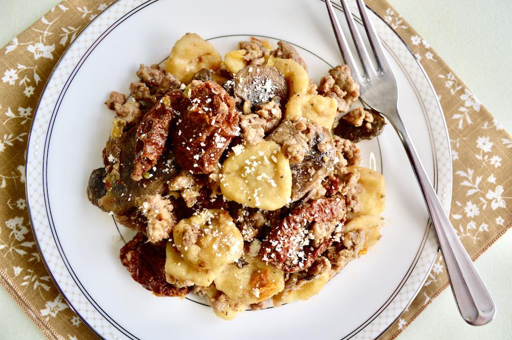 Sausage, Sun-Dried Tomato and Mushroom Orecchiette