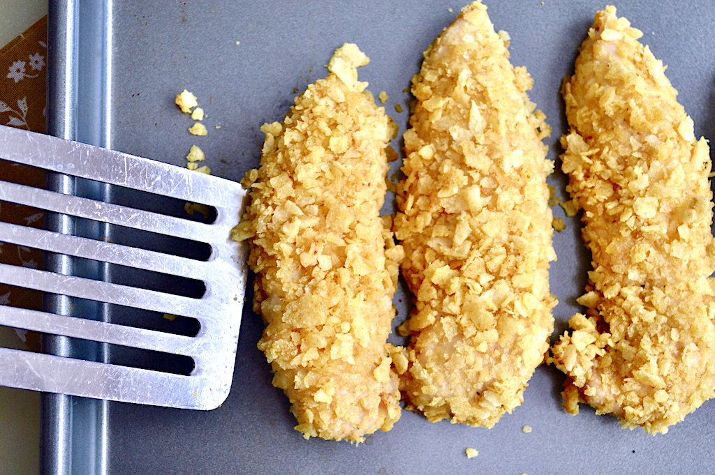 Chip Crusted Baked Chicken